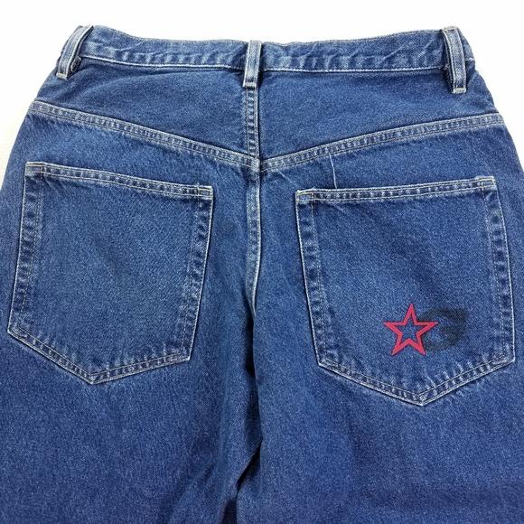 58131e5ced9 Guess Jeans   Vtg Denim Felt Letters Spell Out Pants   Poshmark